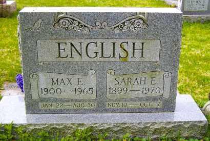 ENGLISH, MAX E - Northumberland County, Pennsylvania | MAX E ENGLISH - Pennsylvania Gravestone Photos