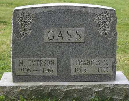 GASS, M. EMERSON - Northumberland County, Pennsylvania | M. EMERSON GASS - Pennsylvania Gravestone Photos