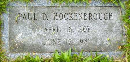 HOCKENBROUGH, PAUL D - Northumberland County, Pennsylvania   PAUL D HOCKENBROUGH - Pennsylvania Gravestone Photos