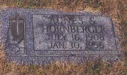 HORNBERGER, AGNES S - Northumberland County, Pennsylvania | AGNES S HORNBERGER - Pennsylvania Gravestone Photos