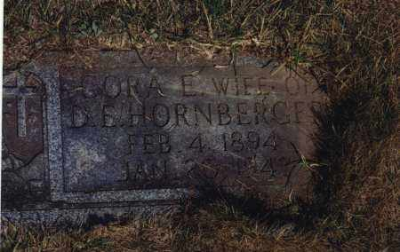 HORNBERGER, CORA E - Northumberland County, Pennsylvania | CORA E HORNBERGER - Pennsylvania Gravestone Photos