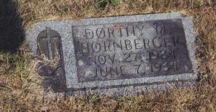 HORNBERGER, DORTHY M - Northumberland County, Pennsylvania | DORTHY M HORNBERGER - Pennsylvania Gravestone Photos
