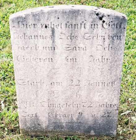 OCHS, JOHANNES - Northumberland County, Pennsylvania | JOHANNES OCHS - Pennsylvania Gravestone Photos