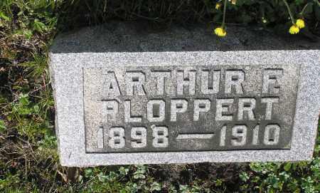 PLOPPERT, ARTHUR F - Northumberland County, Pennsylvania | ARTHUR F PLOPPERT - Pennsylvania Gravestone Photos