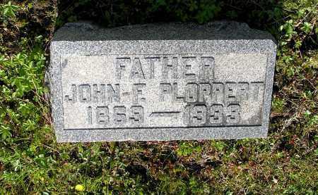 PLOPPERT, JOHN F - Northumberland County, Pennsylvania   JOHN F PLOPPERT - Pennsylvania Gravestone Photos