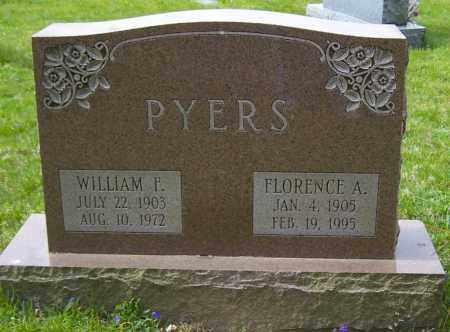 PYERS, WILLIAM F. - Northumberland County, Pennsylvania   WILLIAM F. PYERS - Pennsylvania Gravestone Photos