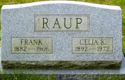 RAUP, FRANK - Northumberland County, Pennsylvania | FRANK RAUP - Pennsylvania Gravestone Photos