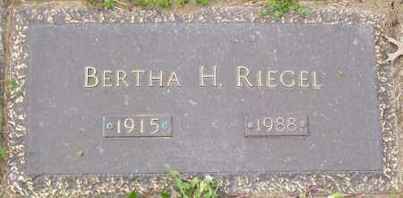 RIEGEL, BERTHA H - Northumberland County, Pennsylvania | BERTHA H RIEGEL - Pennsylvania Gravestone Photos