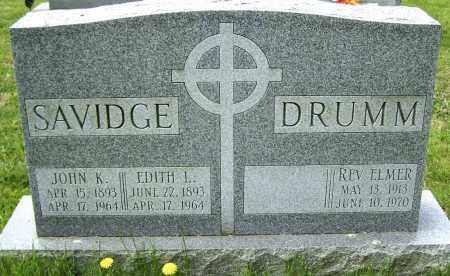 SAVIDGE, JOHN K. - Northumberland County, Pennsylvania | JOHN K. SAVIDGE - Pennsylvania Gravestone Photos