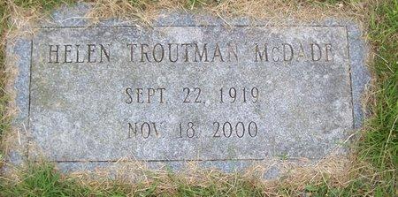 TROUTMAN, HELEN - Northumberland County, Pennsylvania | HELEN TROUTMAN - Pennsylvania Gravestone Photos