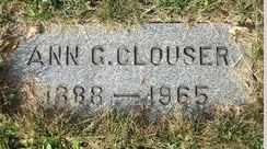 CLOUSER, ANN GERTRUDE - Perry County, Pennsylvania   ANN GERTRUDE CLOUSER - Pennsylvania Gravestone Photos