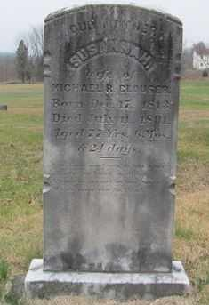 COMP CLOUSER, SUSANNAH - Perry County, Pennsylvania | SUSANNAH COMP CLOUSER - Pennsylvania Gravestone Photos