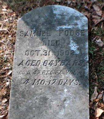 FOOSE, SAMUEL - Perry County, Pennsylvania | SAMUEL FOOSE - Pennsylvania Gravestone Photos