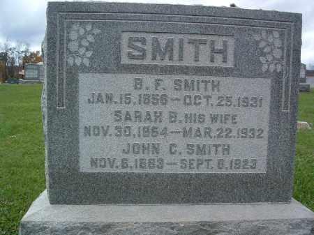 SMITH, BENJAMIN FRANKLIN - Perry County, Pennsylvania | BENJAMIN FRANKLIN SMITH - Pennsylvania Gravestone Photos