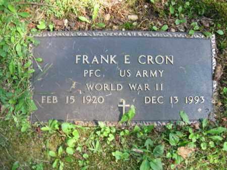 CRON(WW II), FRANK E. - Pike County, Pennsylvania   FRANK E. CRON(WW II) - Pennsylvania Gravestone Photos
