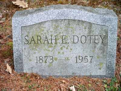 DOTEY, SARAH ELIZABETH - Pike County, Pennsylvania | SARAH ELIZABETH DOTEY - Pennsylvania Gravestone Photos