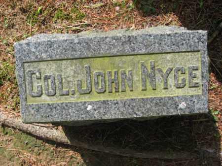 NYCE (CW), COL.JOHN - Pike County, Pennsylvania | COL.JOHN NYCE (CW) - Pennsylvania Gravestone Photos