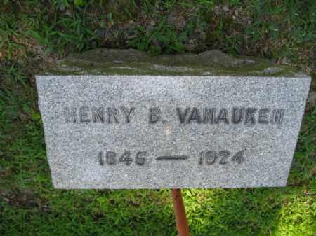 VANAUKEN, HENRY B. - Pike County, Pennsylvania   HENRY B. VANAUKEN - Pennsylvania Gravestone Photos