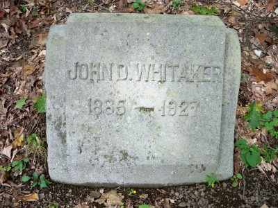 WHITAKER, JOHN D. - Pike County, Pennsylvania | JOHN D. WHITAKER - Pennsylvania Gravestone Photos