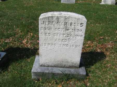 BOAS, JEREMIAH - Schuylkill County, Pennsylvania | JEREMIAH BOAS - Pennsylvania Gravestone Photos