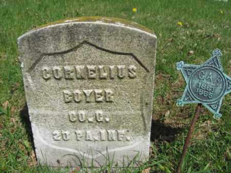 BOYER (CW), CORNELIUS - Schuylkill County, Pennsylvania | CORNELIUS BOYER (CW) - Pennsylvania Gravestone Photos