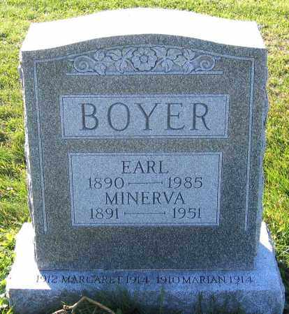 BOYER, MINERVA - Schuylkill County, Pennsylvania | MINERVA BOYER - Pennsylvania Gravestone Photos