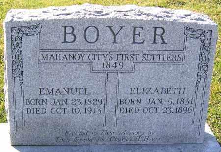 BOYER, ELIZABETH - Schuylkill County, Pennsylvania | ELIZABETH BOYER - Pennsylvania Gravestone Photos
