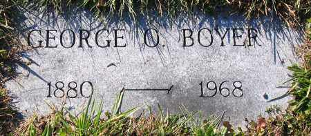 BOYER, GEORGE O. - Schuylkill County, Pennsylvania | GEORGE O. BOYER - Pennsylvania Gravestone Photos