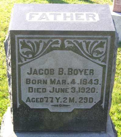 BOYER, JACOB B. - Schuylkill County, Pennsylvania | JACOB B. BOYER - Pennsylvania Gravestone Photos