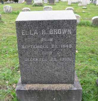 BROWN, ELLA R. - Schuylkill County, Pennsylvania | ELLA R. BROWN - Pennsylvania Gravestone Photos