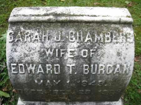 CHAMBERS BURCAR, SARAH J, - Schuylkill County, Pennsylvania   SARAH J, CHAMBERS BURCAR - Pennsylvania Gravestone Photos