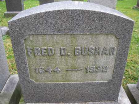 BUSHAR, FRED D. - Schuylkill County, Pennsylvania | FRED D. BUSHAR - Pennsylvania Gravestone Photos