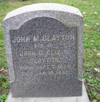 CLAYTON (CW), JOHN M. - Schuylkill County, Pennsylvania   JOHN M. CLAYTON (CW) - Pennsylvania Gravestone Photos
