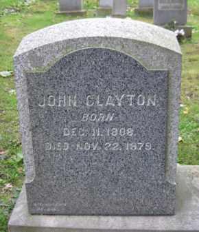 CLAYTON, JOHN - Schuylkill County, Pennsylvania   JOHN CLAYTON - Pennsylvania Gravestone Photos