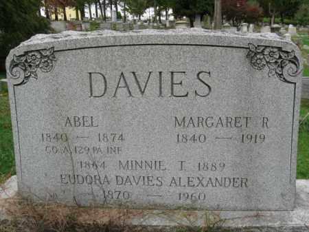 DAVIES (DAVIS)  (CW), ABEL - Schuylkill County, Pennsylvania | ABEL DAVIES (DAVIS)  (CW) - Pennsylvania Gravestone Photos