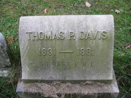 DAVIS (CW), THOMAS P. - Schuylkill County, Pennsylvania | THOMAS P. DAVIS (CW) - Pennsylvania Gravestone Photos