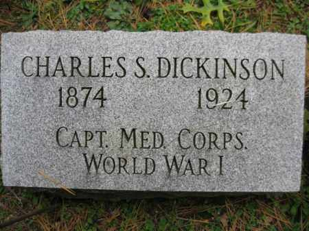 DICKINSON (WW I), CHARLES S. - Schuylkill County, Pennsylvania | CHARLES S. DICKINSON (WW I) - Pennsylvania Gravestone Photos