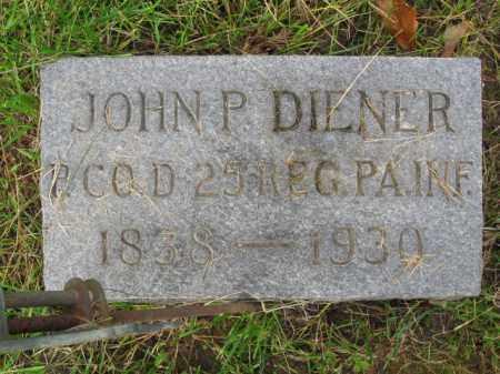 DIENER (CW), JOHN P. - Schuylkill County, Pennsylvania | JOHN P. DIENER (CW) - Pennsylvania Gravestone Photos