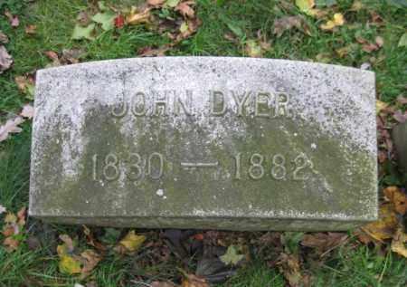 DYER, JOHN - Schuylkill County, Pennsylvania | JOHN DYER - Pennsylvania Gravestone Photos
