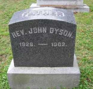 DYSON, REV. JOHN - Schuylkill County, Pennsylvania   REV. JOHN DYSON - Pennsylvania Gravestone Photos