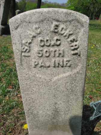 ECKERT (CW), ISAAC - Schuylkill County, Pennsylvania | ISAAC ECKERT (CW) - Pennsylvania Gravestone Photos
