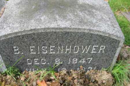 EISENHOWER, B. - Schuylkill County, Pennsylvania | B. EISENHOWER - Pennsylvania Gravestone Photos