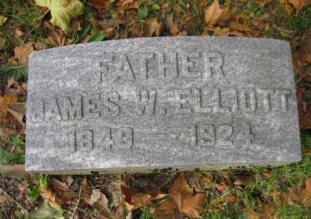 ELLIOTT, JAMES W. - Schuylkill County, Pennsylvania   JAMES W. ELLIOTT - Pennsylvania Gravestone Photos