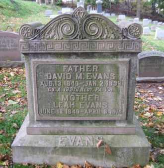 EVANS, LEAH - Schuylkill County, Pennsylvania | LEAH EVANS - Pennsylvania Gravestone Photos