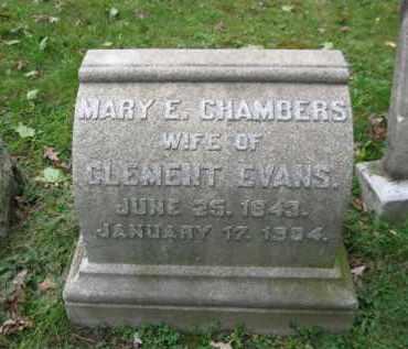 CHAMBERS EVANS, MARY E. - Schuylkill County, Pennsylvania | MARY E. CHAMBERS EVANS - Pennsylvania Gravestone Photos