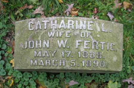 FERTIC, CATHERINE L. - Schuylkill County, Pennsylvania   CATHERINE L. FERTIC - Pennsylvania Gravestone Photos