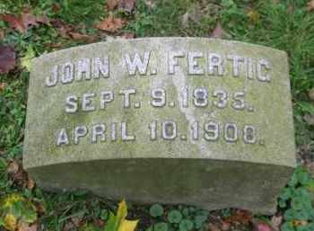 FERTIC, JOHN W. - Schuylkill County, Pennsylvania | JOHN W. FERTIC - Pennsylvania Gravestone Photos