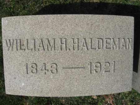 HALDEMAN (CW), WILLIAM H. - Schuylkill County, Pennsylvania | WILLIAM H. HALDEMAN (CW) - Pennsylvania Gravestone Photos