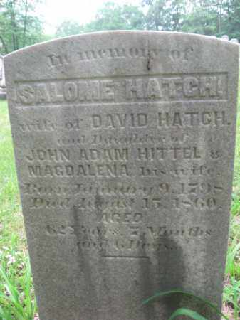 HATCH, SALOME - Schuylkill County, Pennsylvania   SALOME HATCH - Pennsylvania Gravestone Photos
