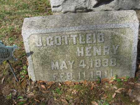 HENRY, J.GOTTLEIB - Schuylkill County, Pennsylvania   J.GOTTLEIB HENRY - Pennsylvania Gravestone Photos